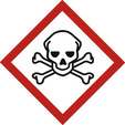 Skull and crossbones (Risk of toxicity, carcinogenicity)